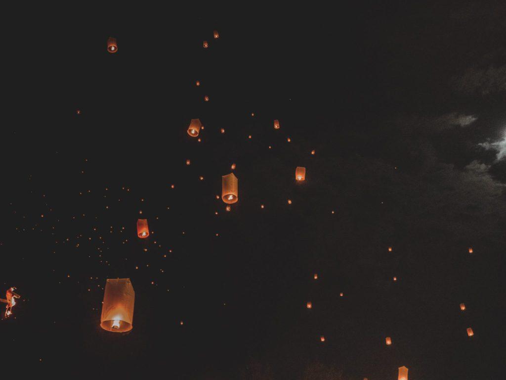 Lanternes nouvel an à Chiang Mai