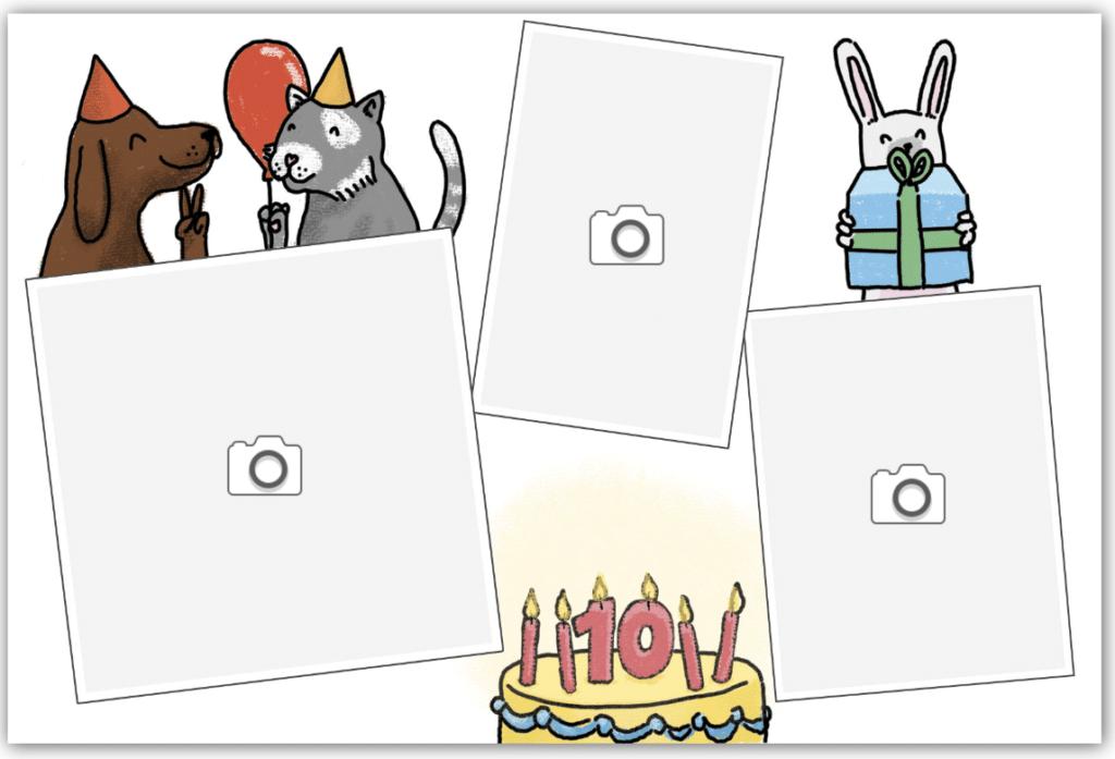 Chat anniversaire et gateau