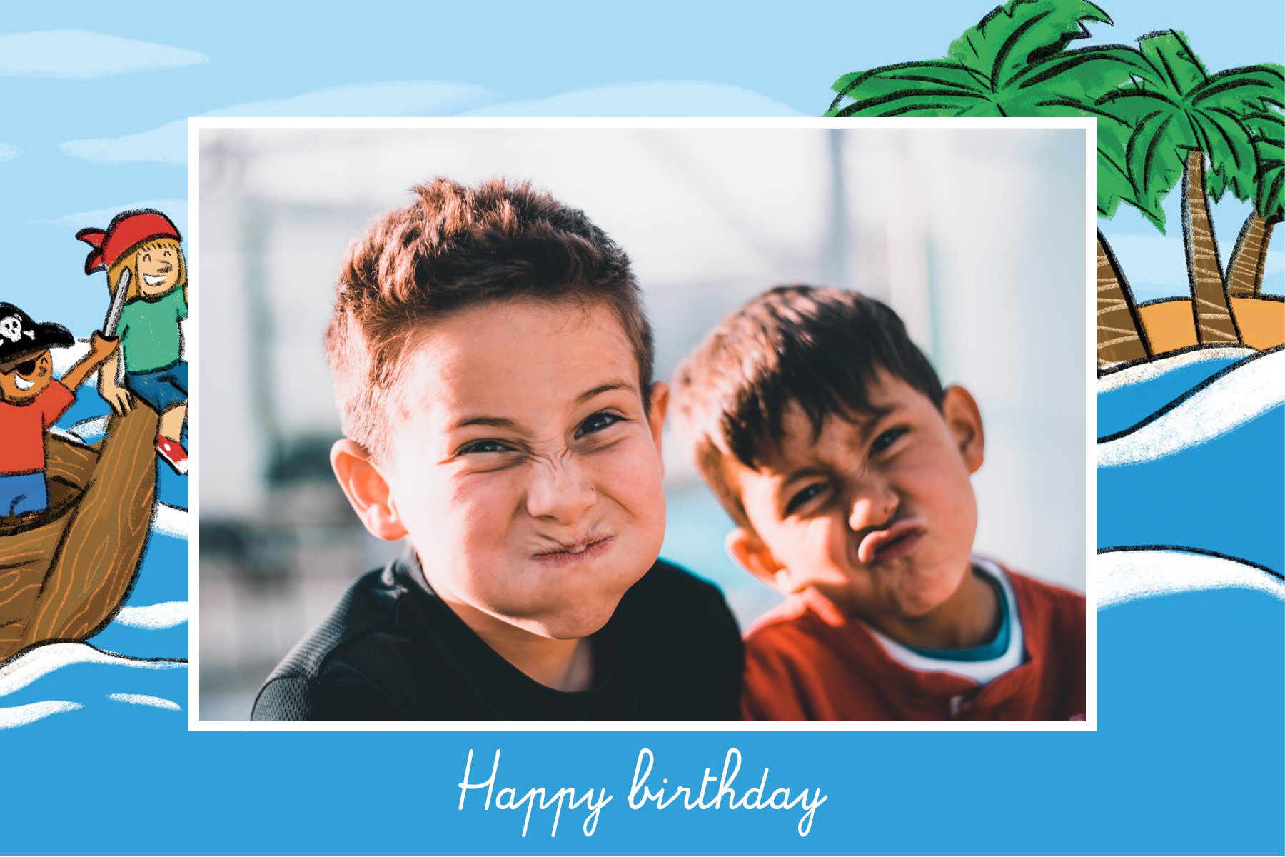 Children Fizzer birthday postcard