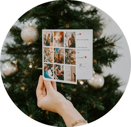 Carte nouvel an mosaique de photos