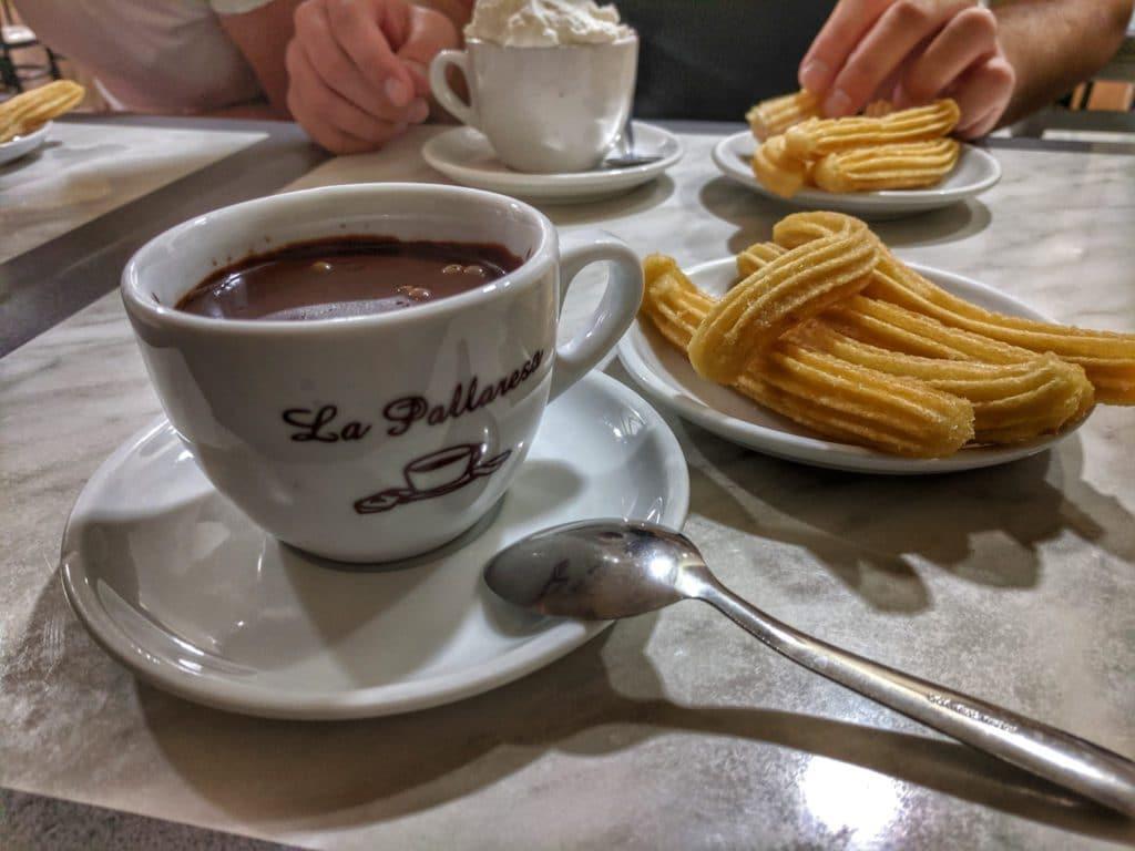 churros et chocolat espagnol