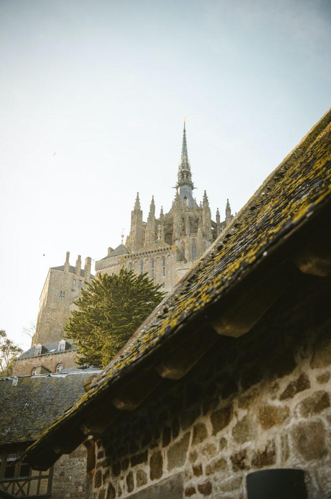 Pic et clochet du Mont Saint Michel en Normandie