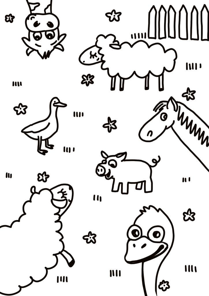 coloriage a imprimer animaux de la ferme