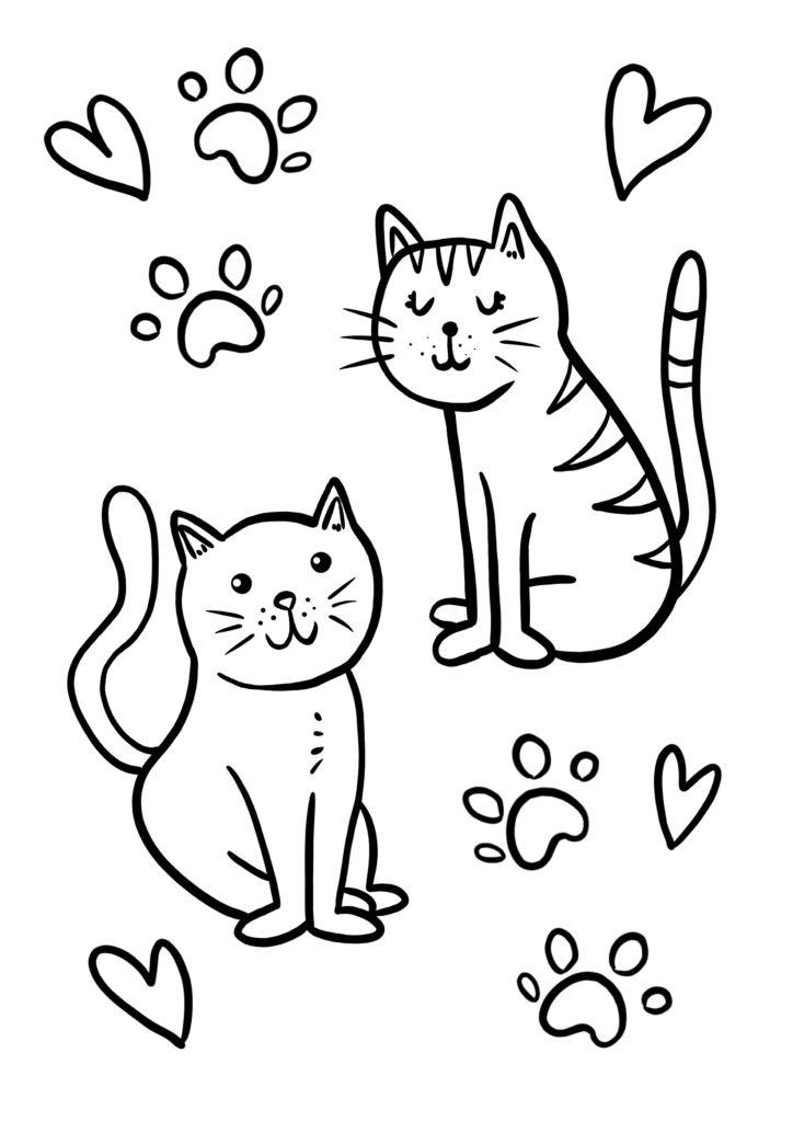 coloriages a imprimer chats