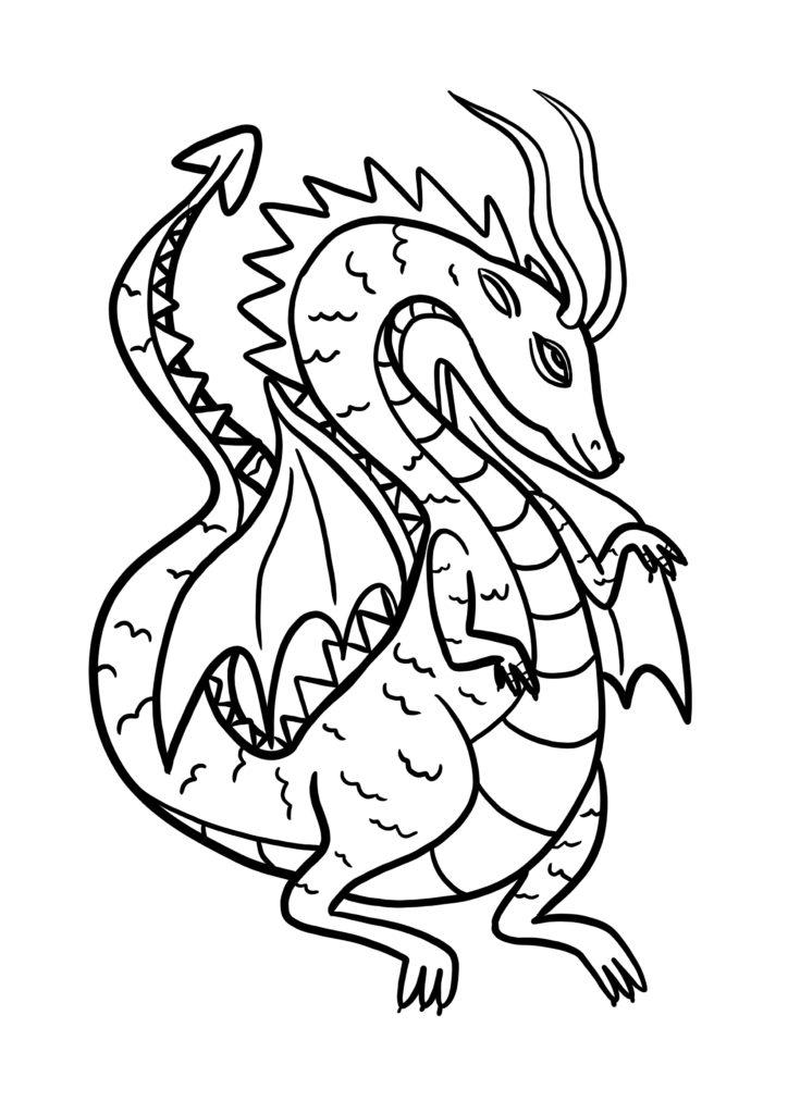 coloriage dragon pour enfant a imprimer