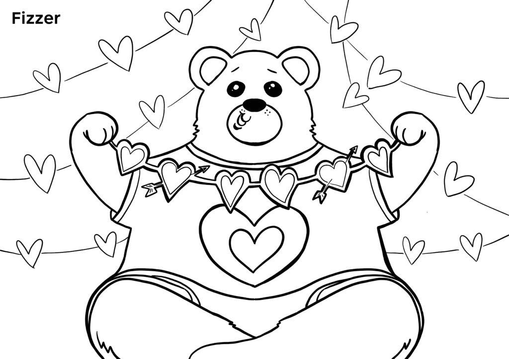 coloriage fete des meres a imprimer ours