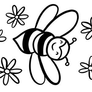Coloriage abeille pour maternelles