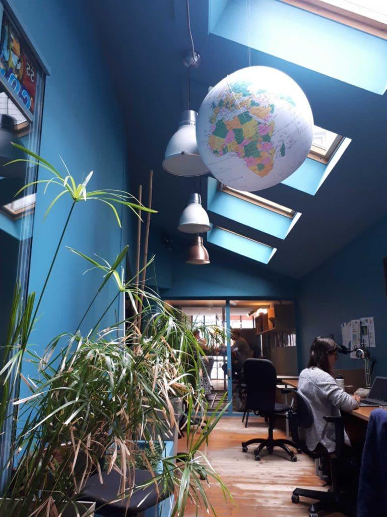 Espace de coworking à Rouen, Normandie, France