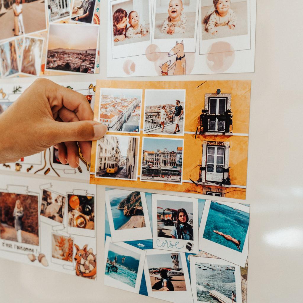 Share lovely magnetic postcards