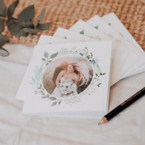 lot de cartes de remerciement mariage