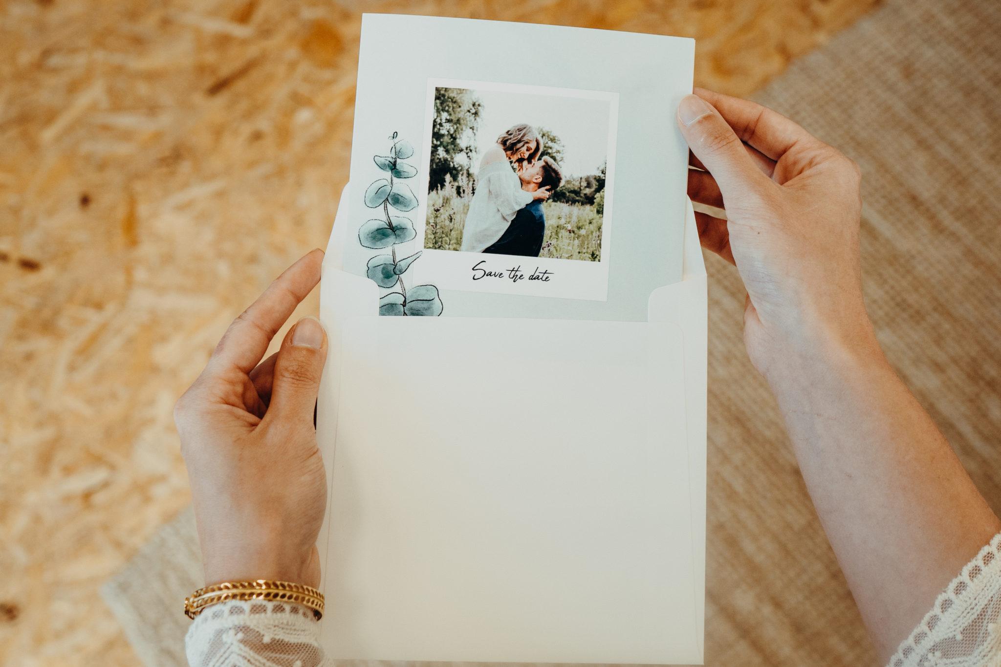 enveloppe de faire-part mariage eucalyptus