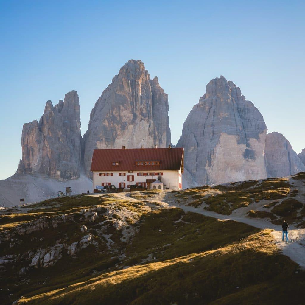 Sommet des Trois Cimes en Italie pour des vacances à la montagne