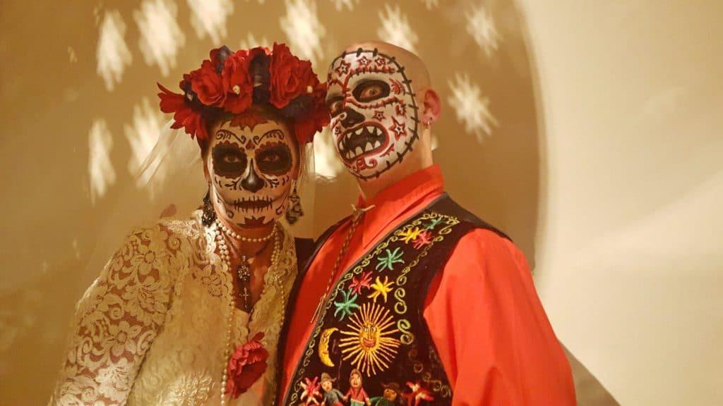 Maquillage fête des morts mexique