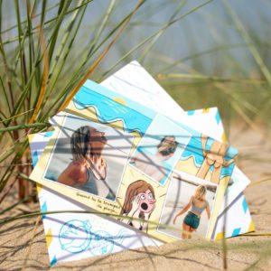Carte postale Fizzer drôle d'été d'une plage nudiste