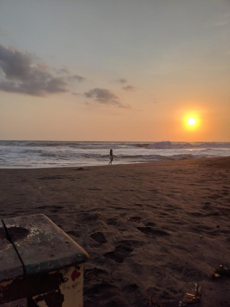 Coucher de soleil sur Echo Beach à Bali