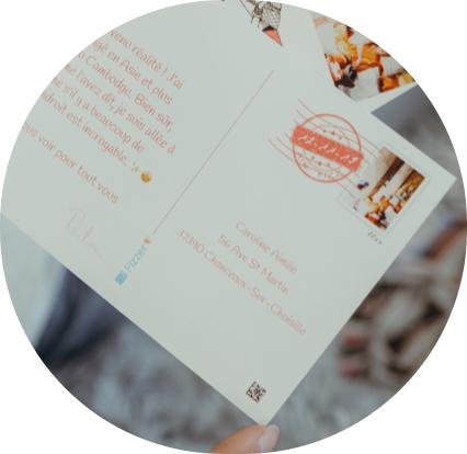 Texte et timbre personnalises
