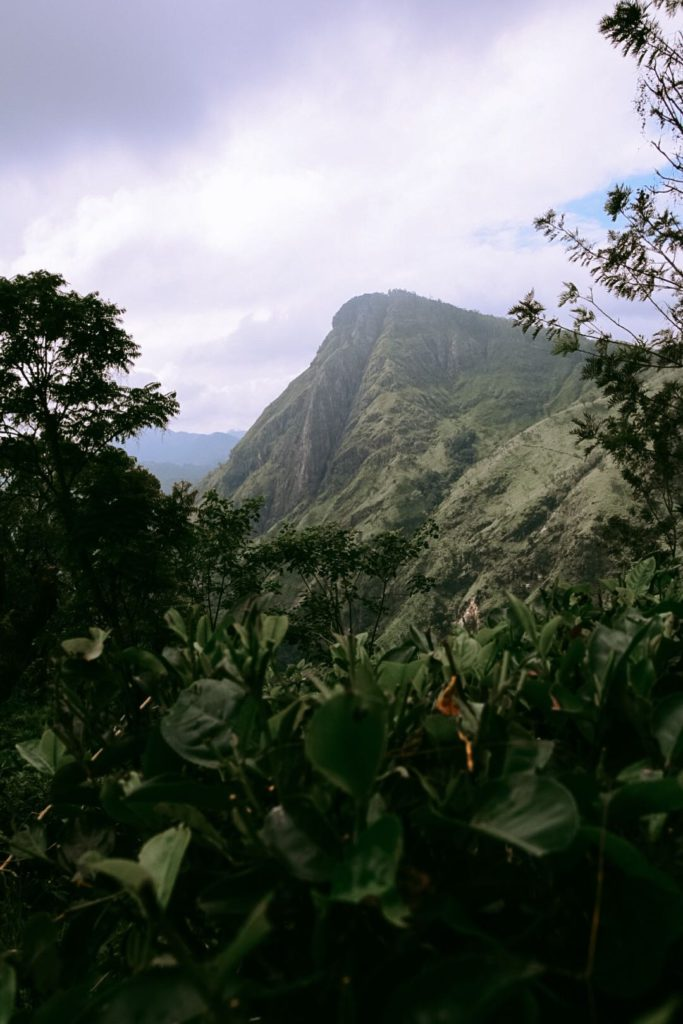 Vue sur Ella Rock depuis Little Adam's Peak au Sri Lanka