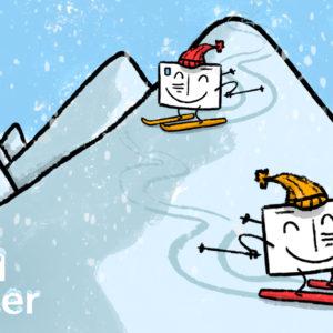 Profils de skieurs en cartes Fizzer