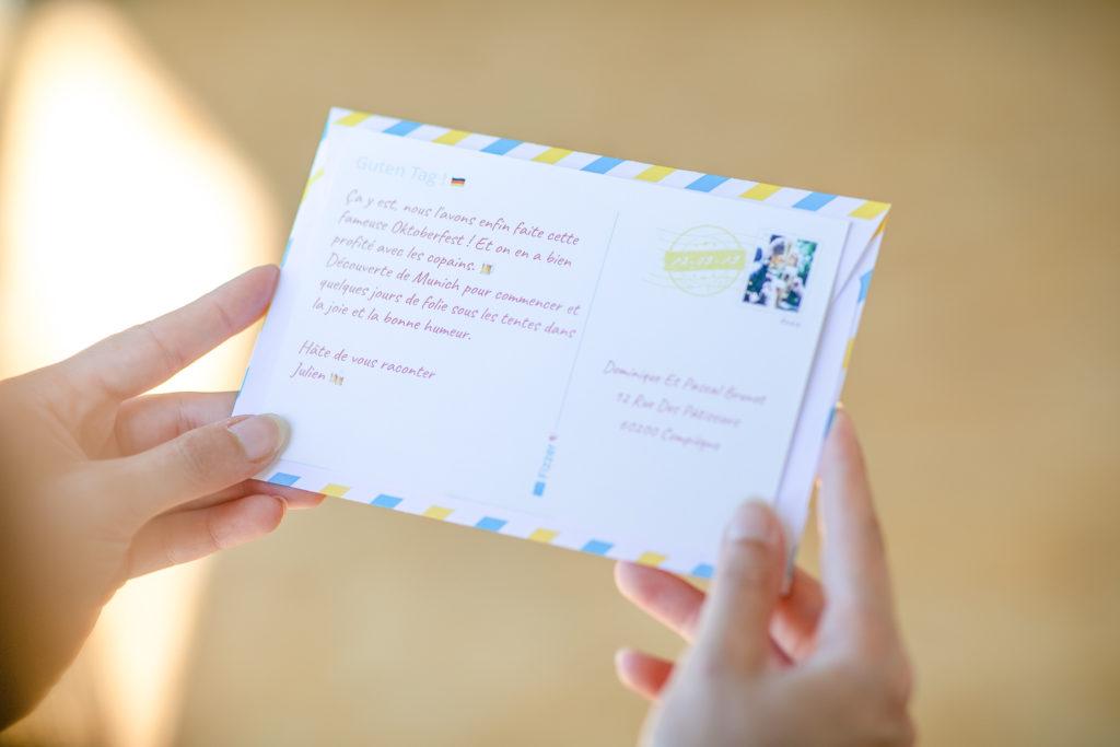 Texte personnalise sur enveloppe Fizzer