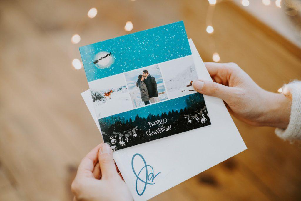 Carte Merry Christmas et enveloppe Fizzer