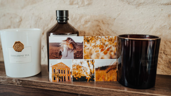 Exemple de carte postale d'automne avec photos pour vos amis