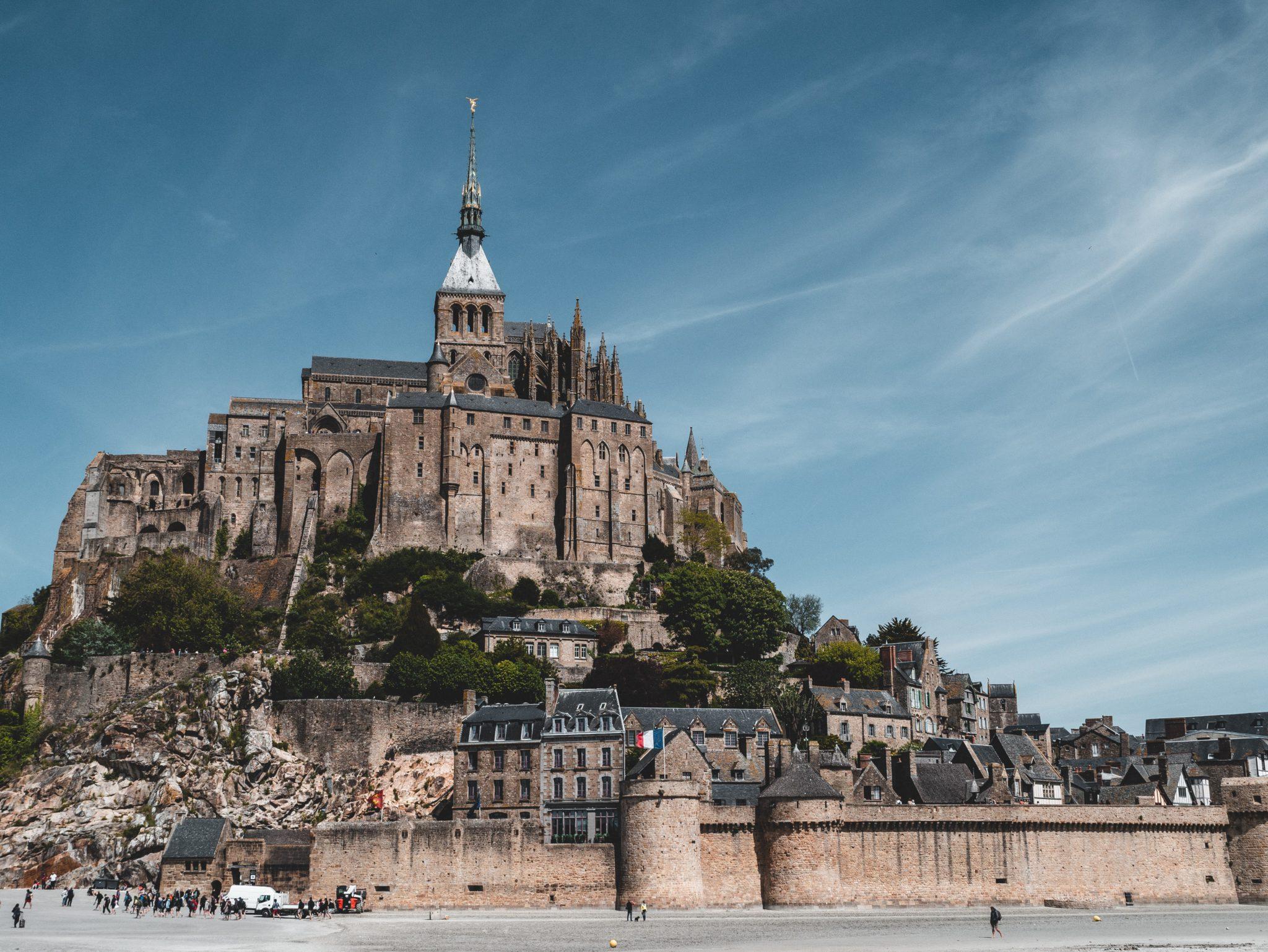 Vue architecture du Mont-Saint-Michel