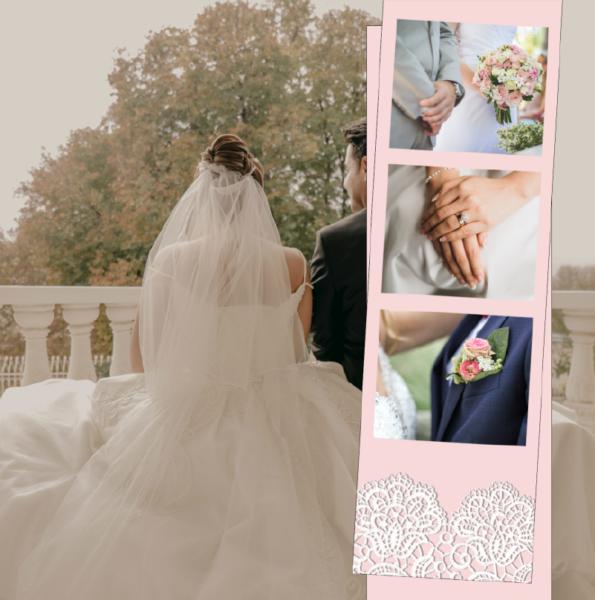 faire-part dentelle mariage rose et blanc
