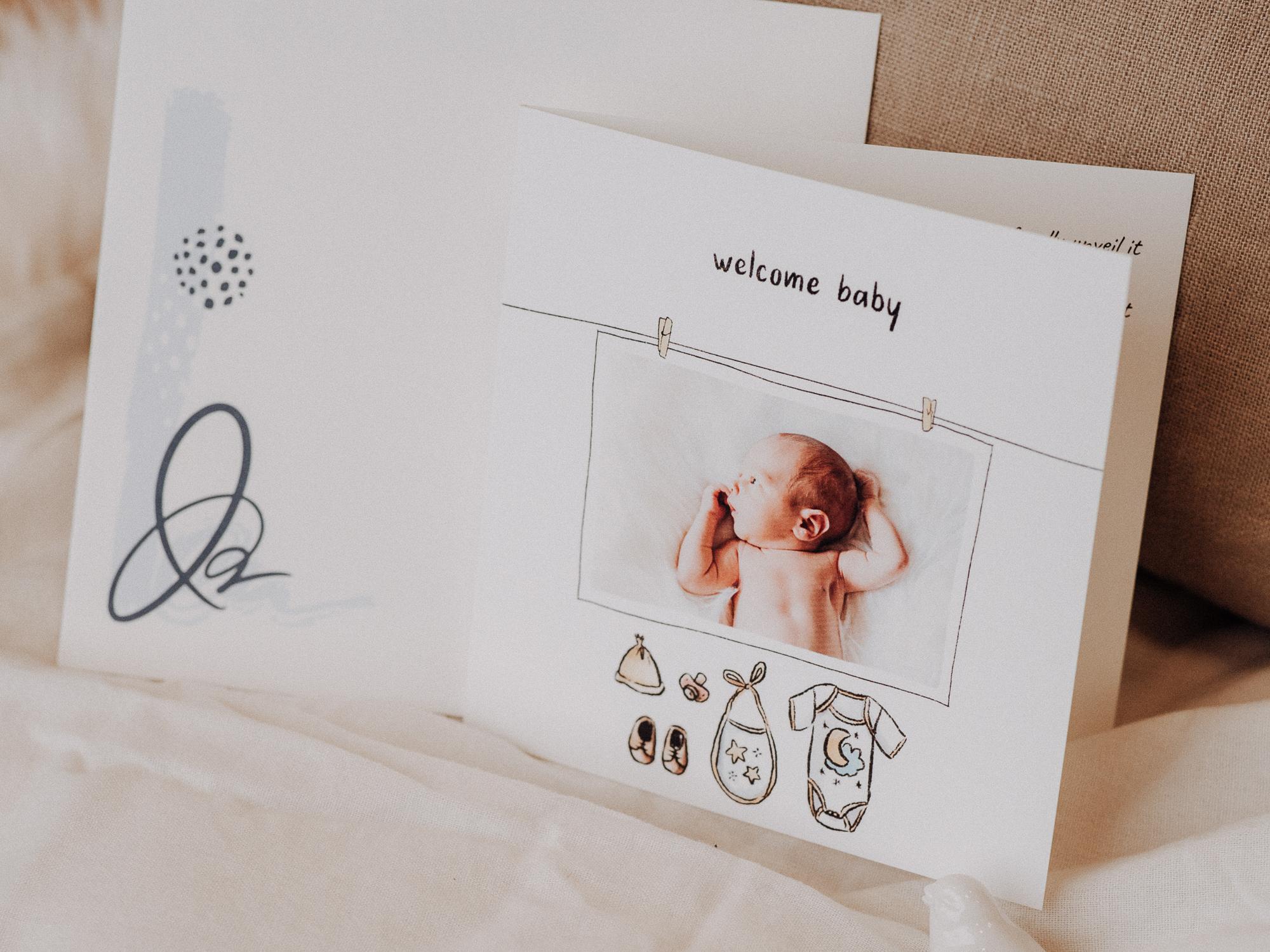 faire-part vetements de bebe welcome baby