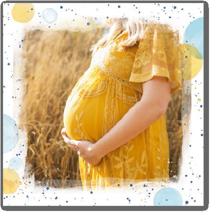 baby shower bleu et jaune