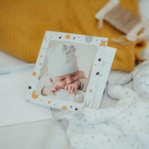 faire-part de naissance personnalise avec etoiles Fizzer