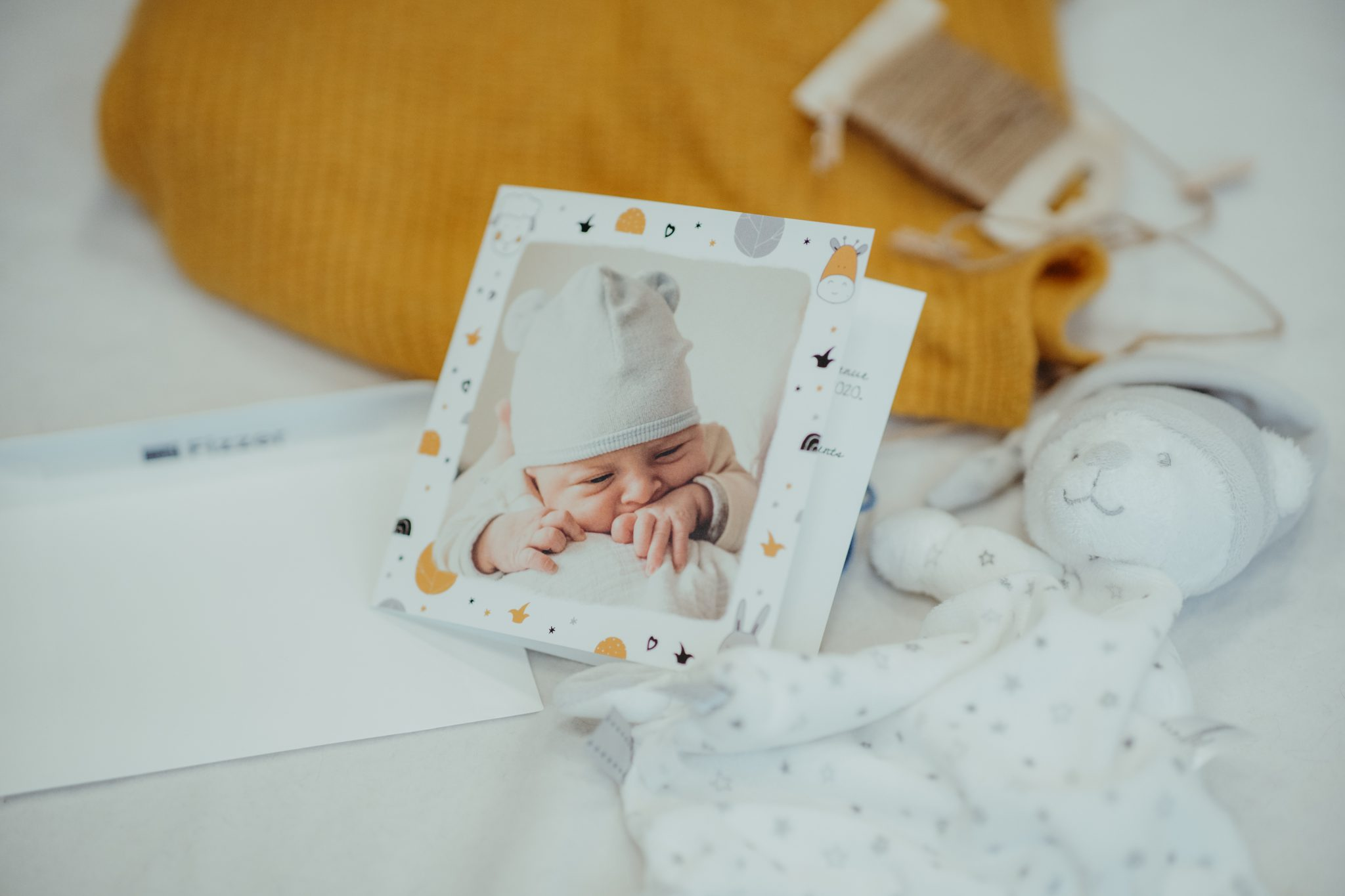 faire-part de naissance personnalisé avec étoiles Fizzer