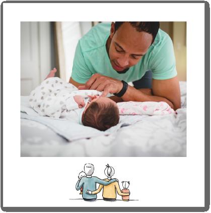 faire-part de naissance personnalisé avec photos thème famille