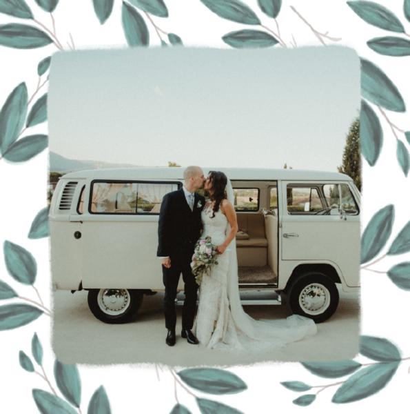 faire-part mariage original avec rameaux d'olivier