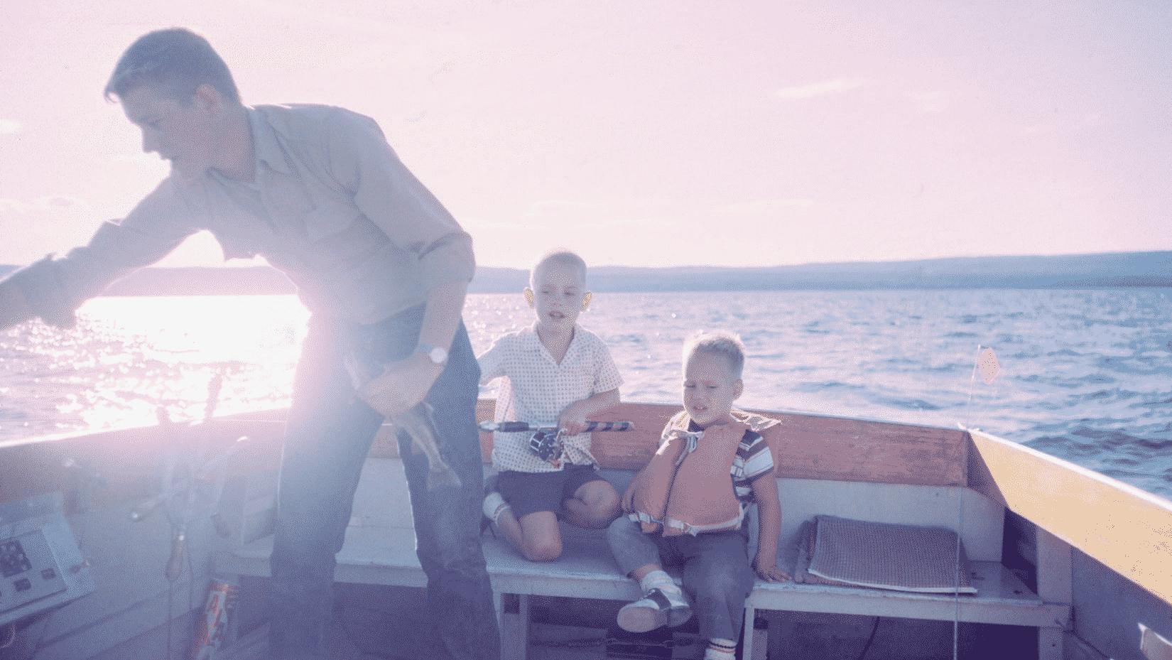 Sortie en bateau pour la fête des pères