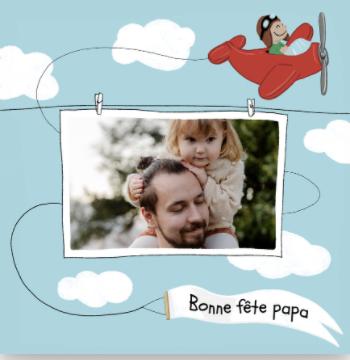 carte fete des peres bonne fete papa avec avion