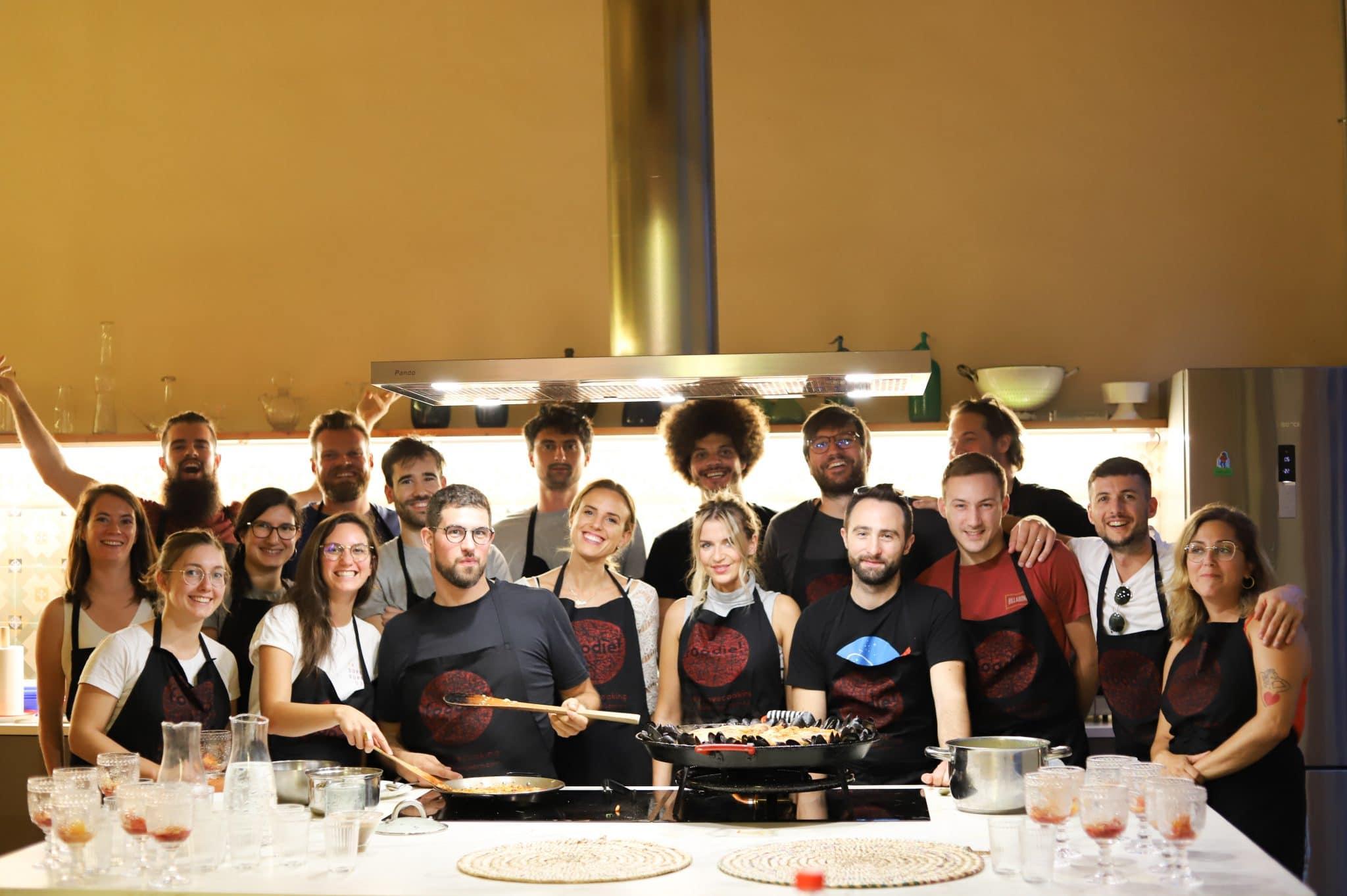 Equipe Fizzer cours de cuisine à Barcelone