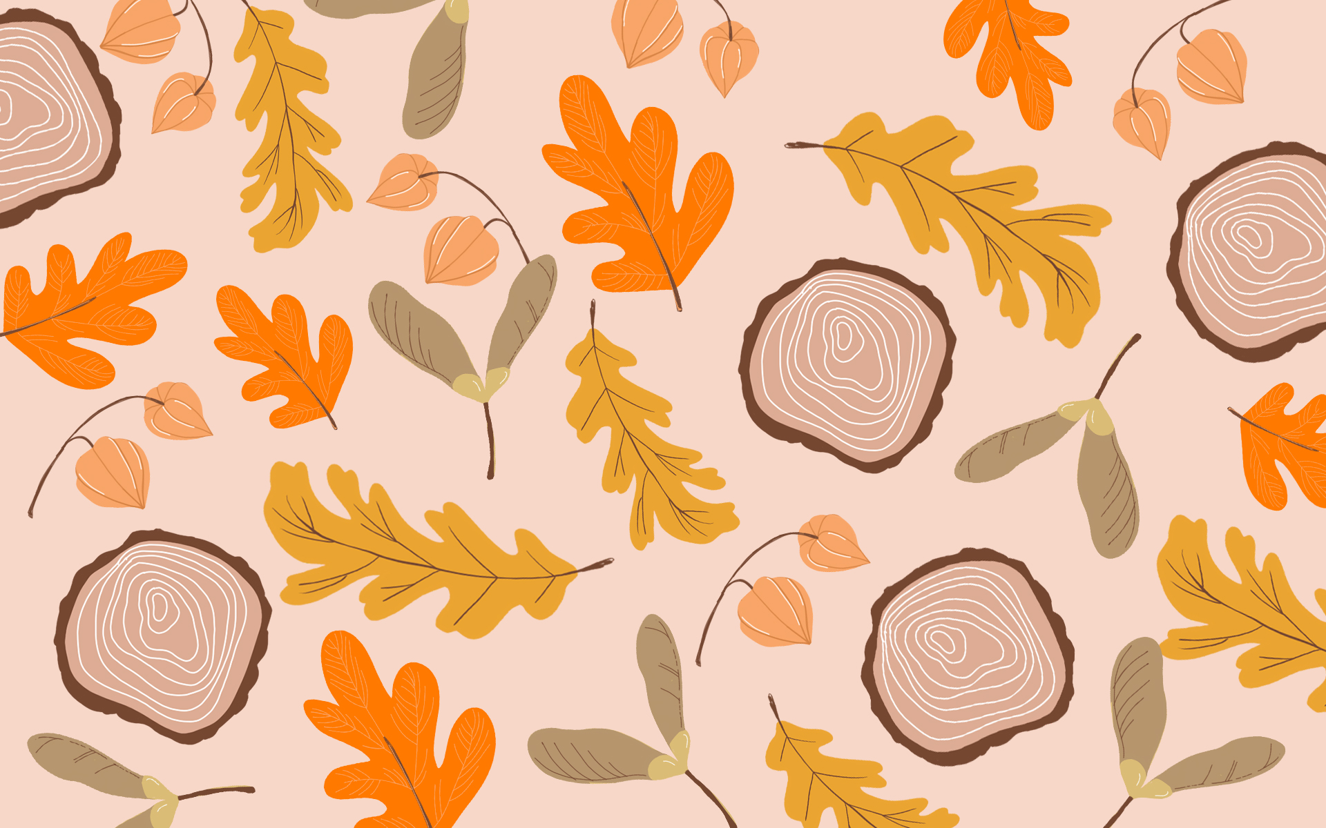 Fond d'ecran automne pour ordinateur avec feuilles