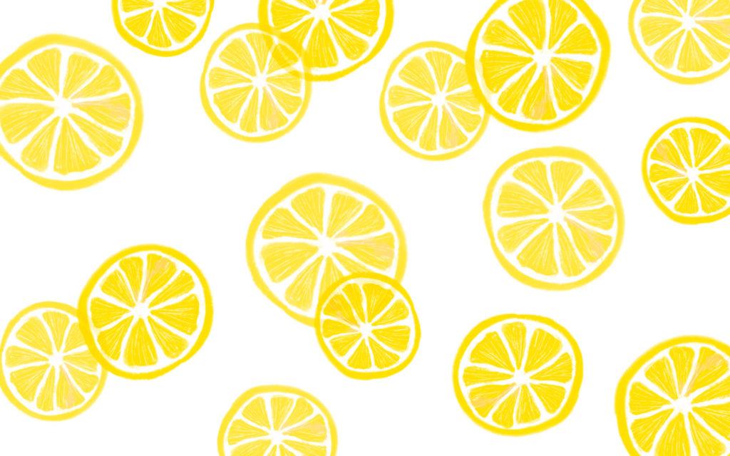 fond ecran ete avec tranches de citron
