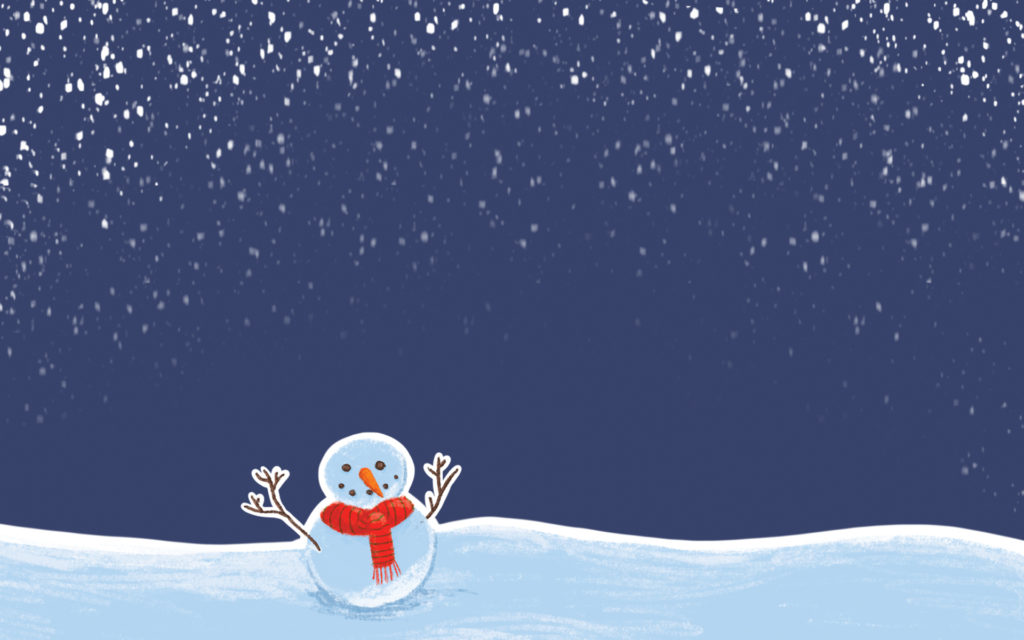 Fond d'ecran Noel PC bonhomme de neige
