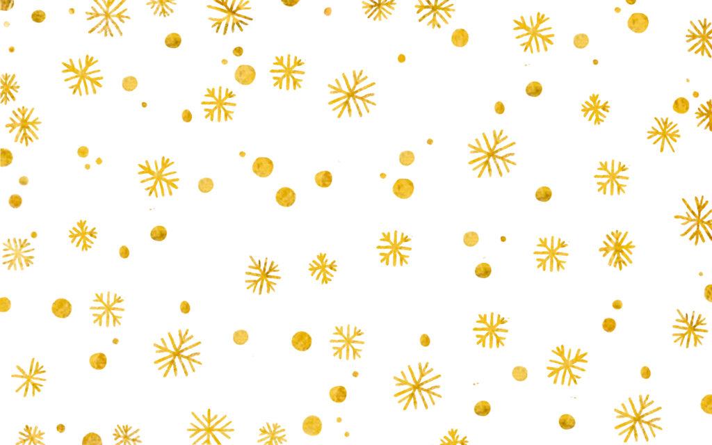 flocons de neiges or