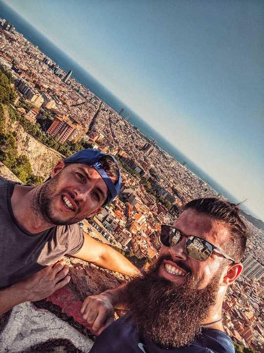 FP et Marco running a Barcelone
