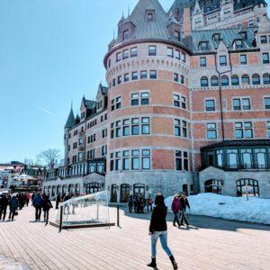 Photographie du château de Frontenac à Québec