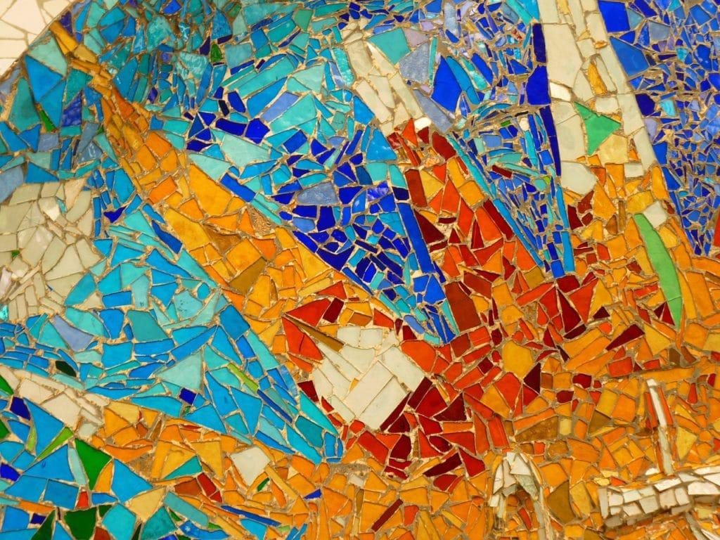 Mosaïque de style Gaudi à Barcelone
