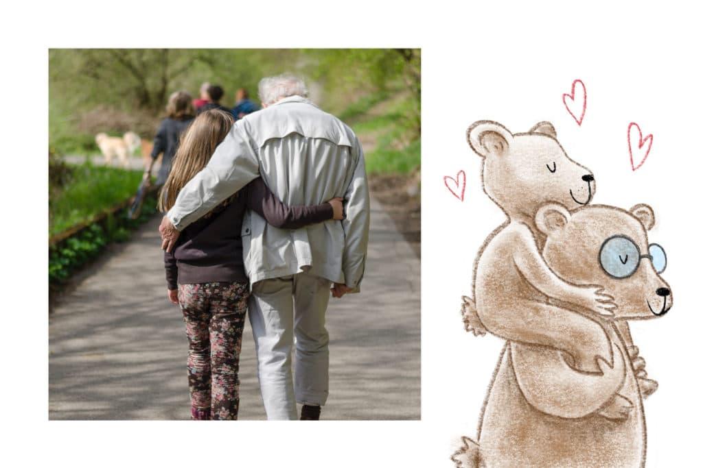 Carte Fête des Grands-Pères ours