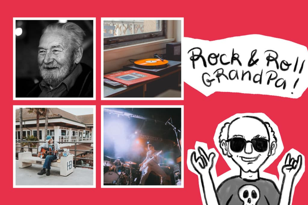 Carte rock'n roll pour son grand-père
