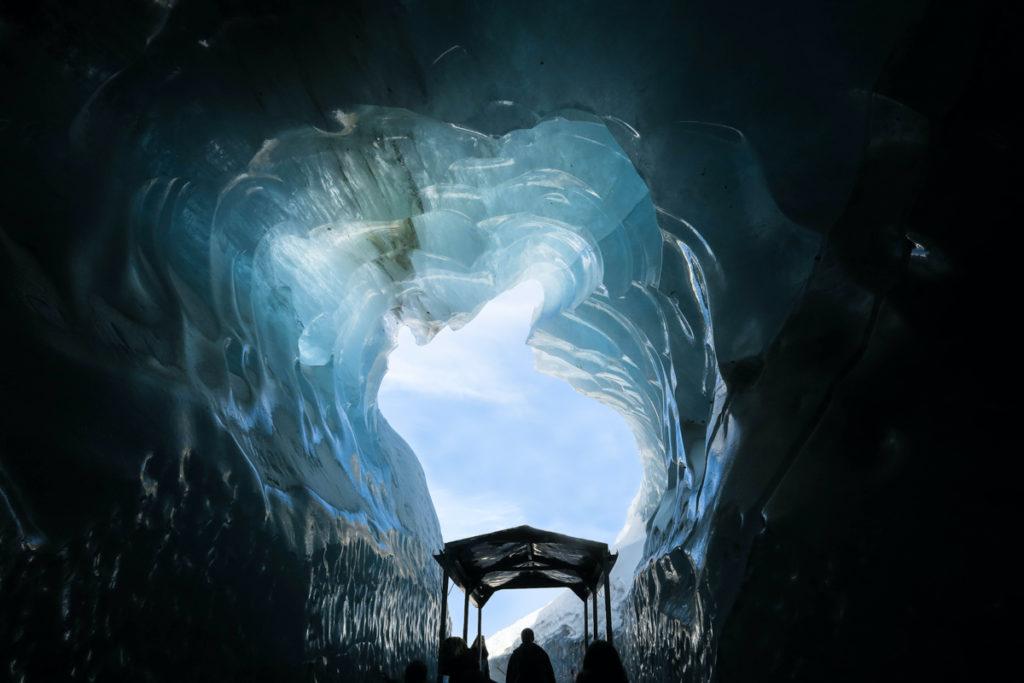 Grotte de glace a Chamonix