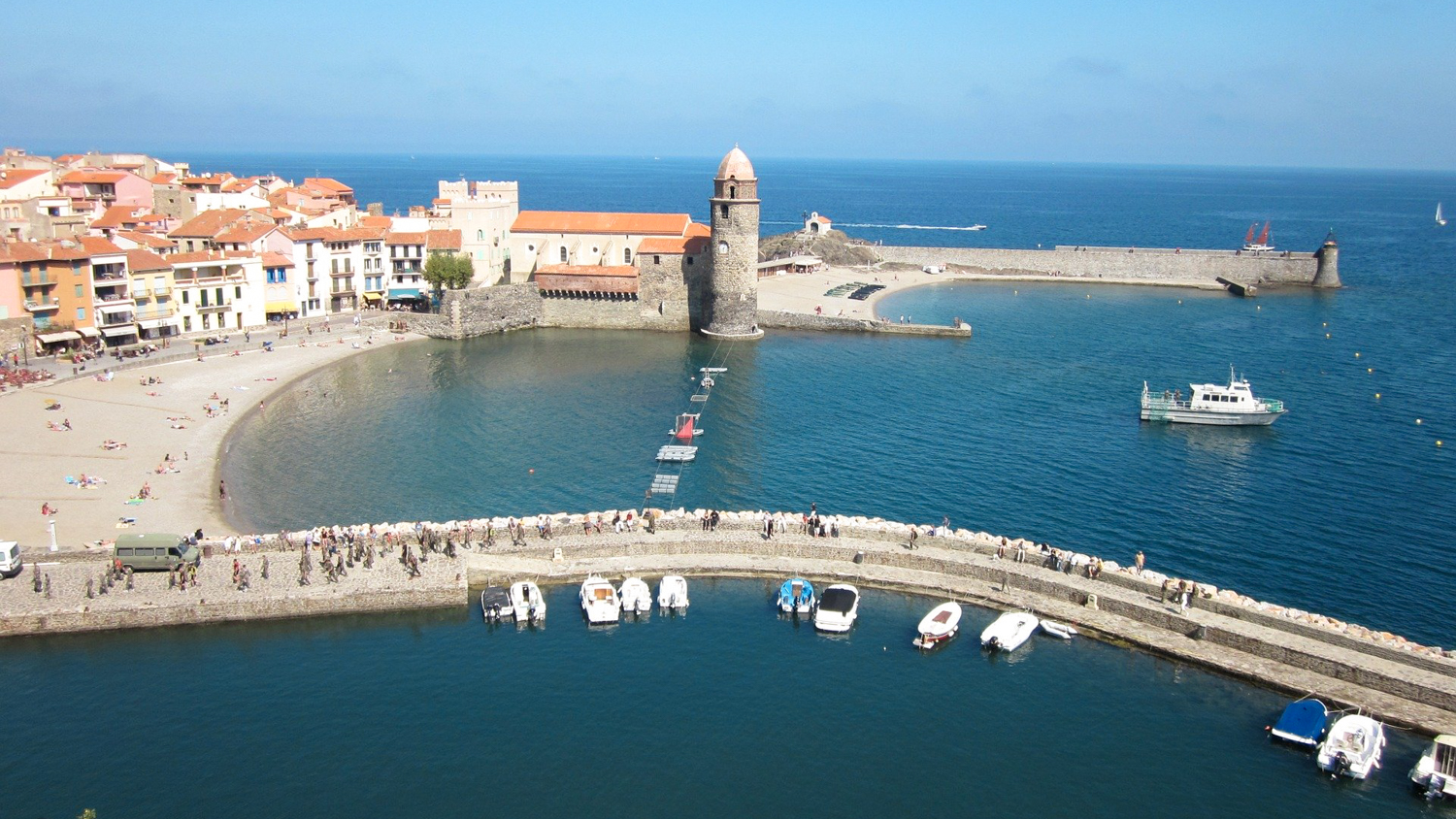 Port de Collioure en Occitanie