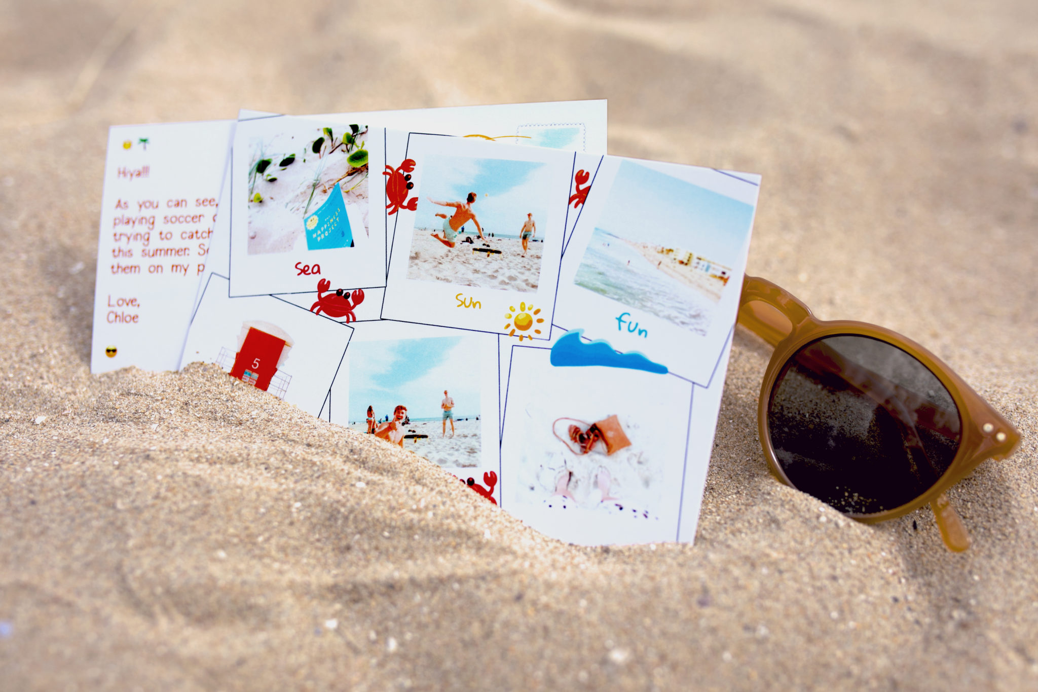 Your postcard is sent in an envelope to protect your photos
