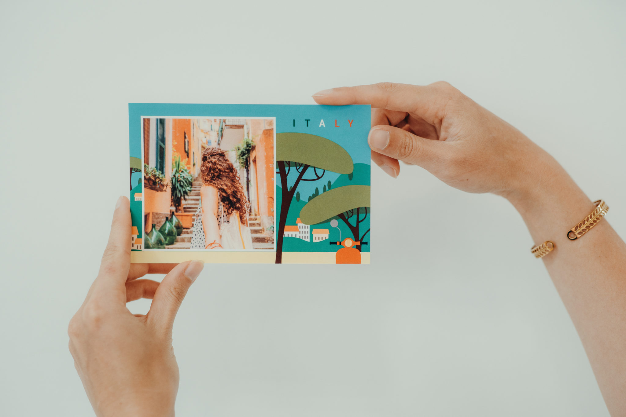 italie vacances carte postale