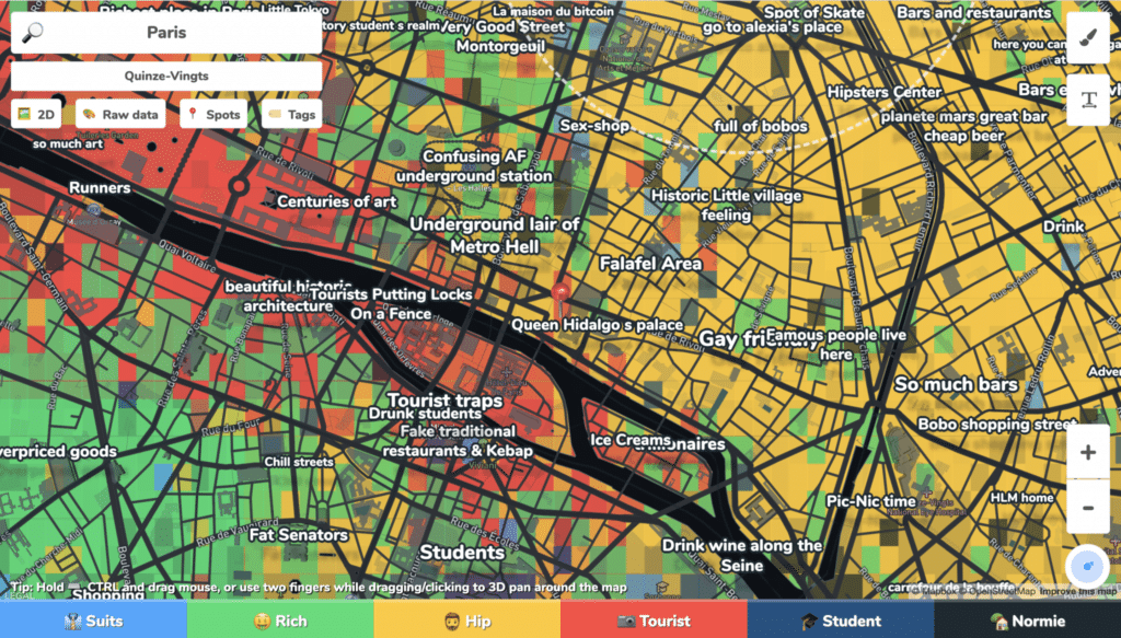 Hoodmaps, le site qui permet d'analyser les quartiers d'une ville